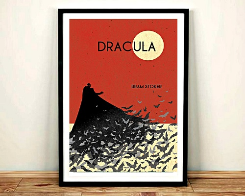 vintage art print dracula themed gifts