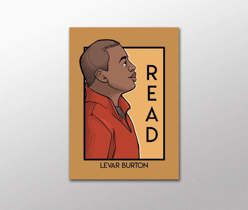 Levar Burton Read Postcard