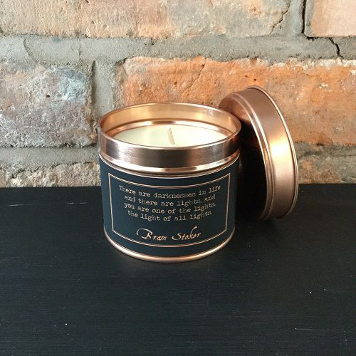 literary candle quote dracula themed gifts
