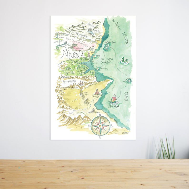 Chronicles of Narnia map print from Etsy https://www.etsy.com/listing/591968225/chronicles-of-narnia-watercolor-map?ga_order=most_relevant&ga_search_type=all&ga_view_type=gallery&ga_search_query=narnia+map&ref=sr_gallery-1-3&organic_search_click=1&bes=1