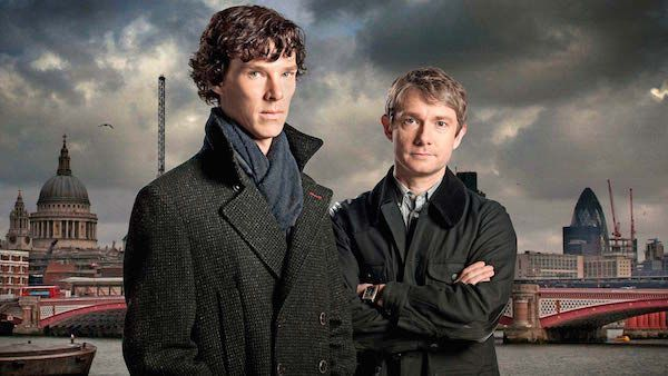 Benedict Cumberbatch and Martin Freeman in a promotional still for Sherlock. Image source: http://www.bbcamerica.com/shows/sherlock/where-to-watch