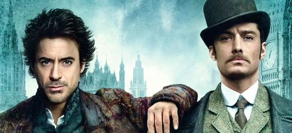 Robert Downey Jr. and Jude Law dressed Sherlock Holmes and John Watson. Image source: https://www.slashfilm.com/sherlock-holmes-3-release-date-new/