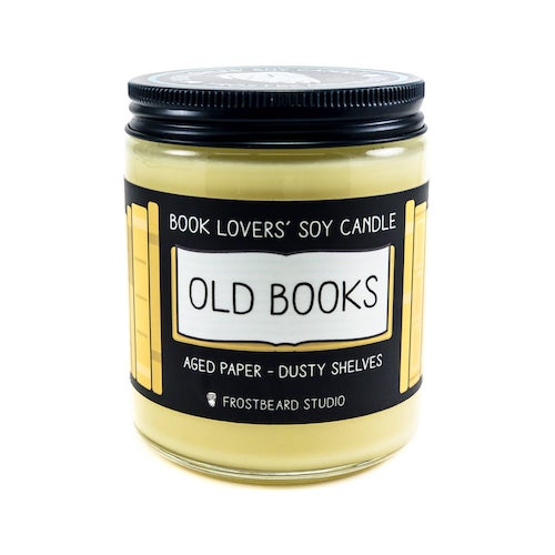 soy book-scented candle from Frostbeard
