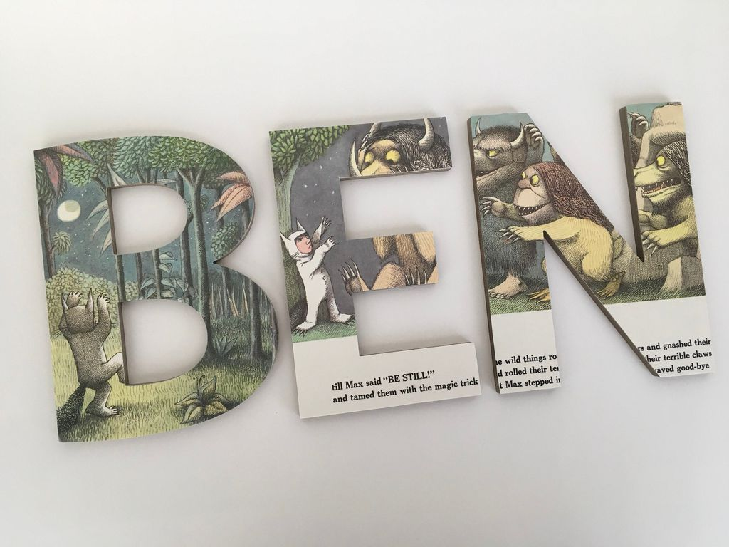 Where the Wild Things Are personalized wall letters from Etsy https://www.etsy.com/listing/482030887/where-the-wild-things-are-custom-letters?ref=shop_home_active_15