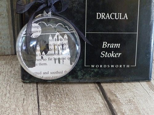 paper silhouette ornament whitby abbey dracula themed gifts