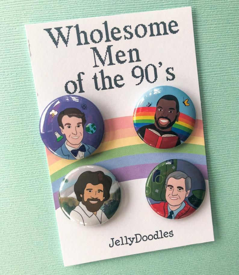 Wholesome Men of the 90's button set