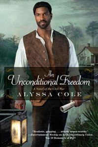 An Unconditional Freedom Book Cover. Black historical romance novel.