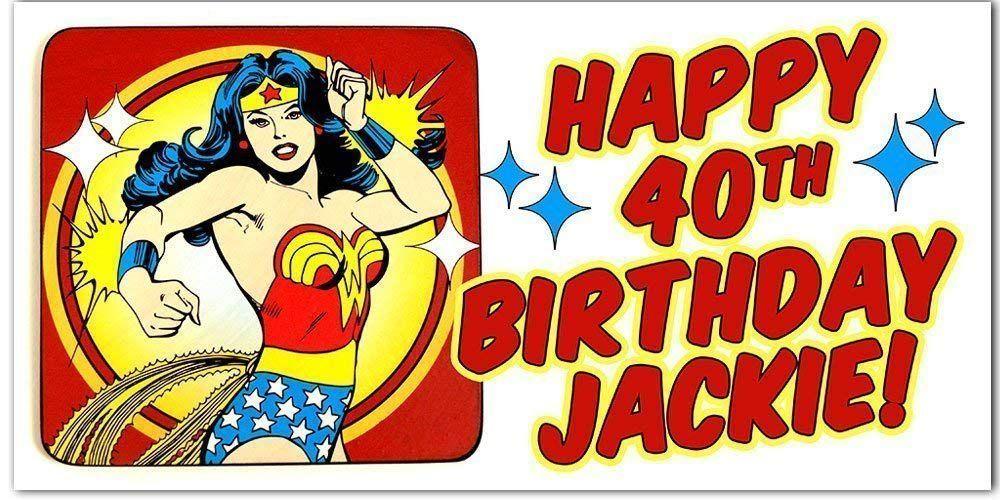 Customizable Wonder Woman Banner