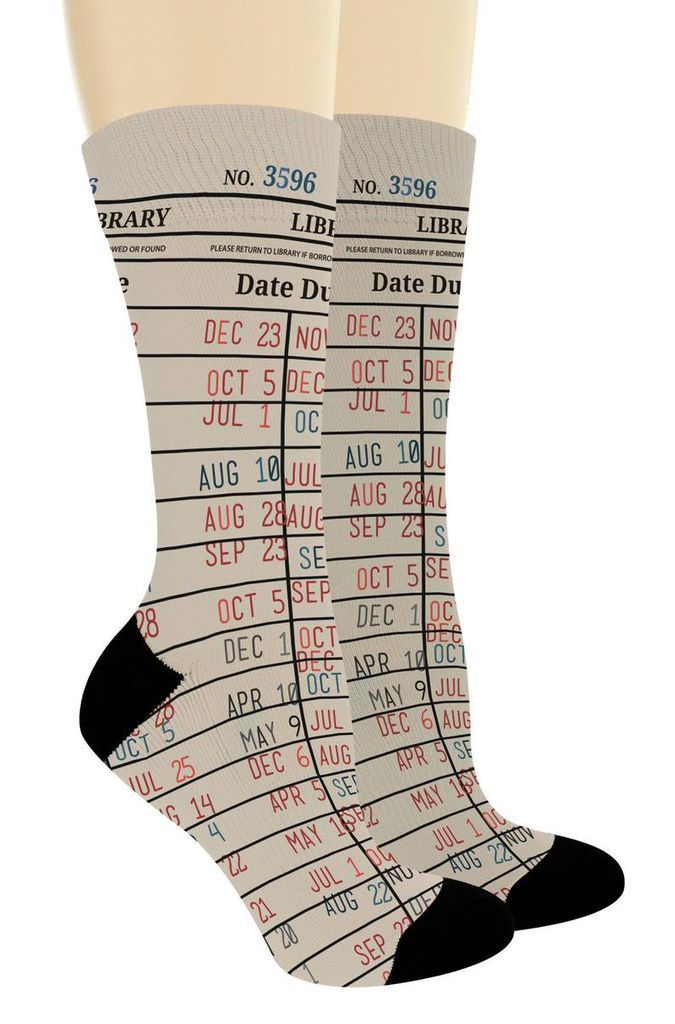 Library due date socks