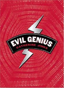 book cover for evil genius by catherine jinks books about child prodigies