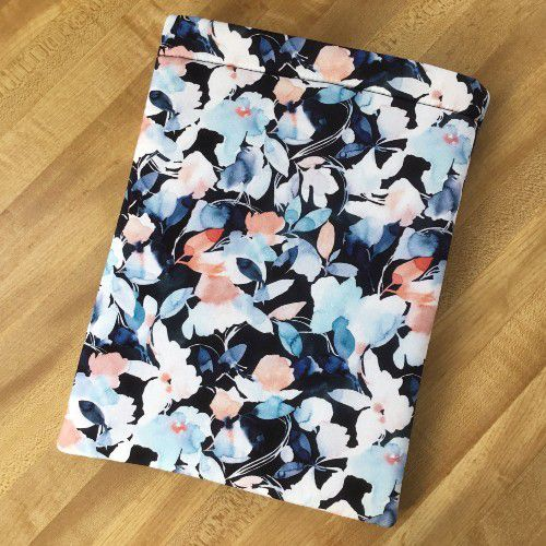 Floral Watercolor Booksleeve by theauntfarm from etsy