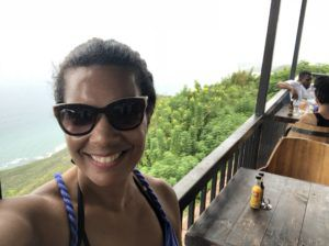 The author at Lover's Leap in Saint Elizabeth Jamaica. Source: C. Bell.
