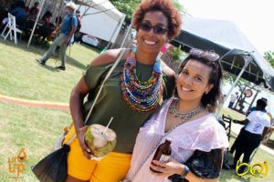 Kellie Magnus and Carole Bell at Calabash Literary Festival in Jamaica. Source: author. Source: author.