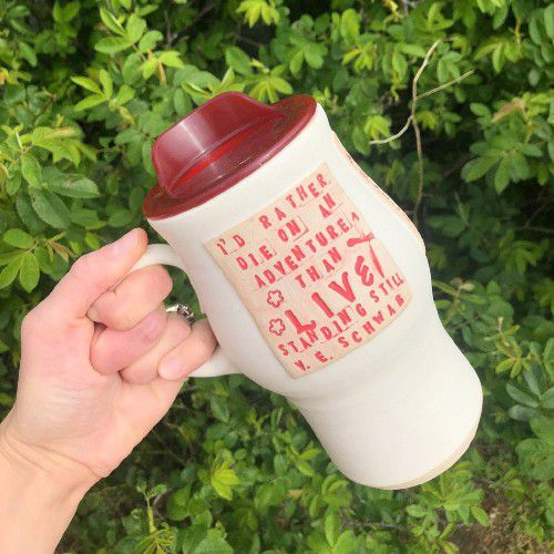 I'd rather die on an adventure than live standing still Bookish Mug by FreisenArt from etsy