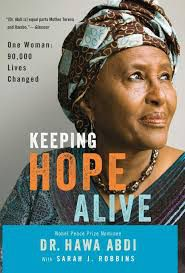 Cover of Keeping Hope Alive Book by Somali Writer and Doctor Hawa Abdi