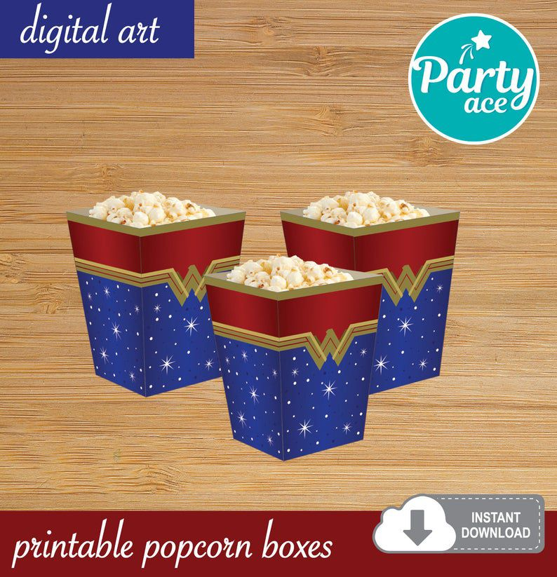 Wonder Woman popcorn boxes