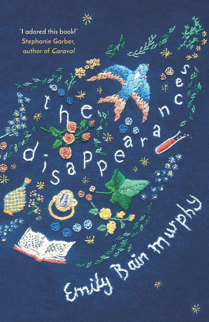 The Disappearances book cover embroidered