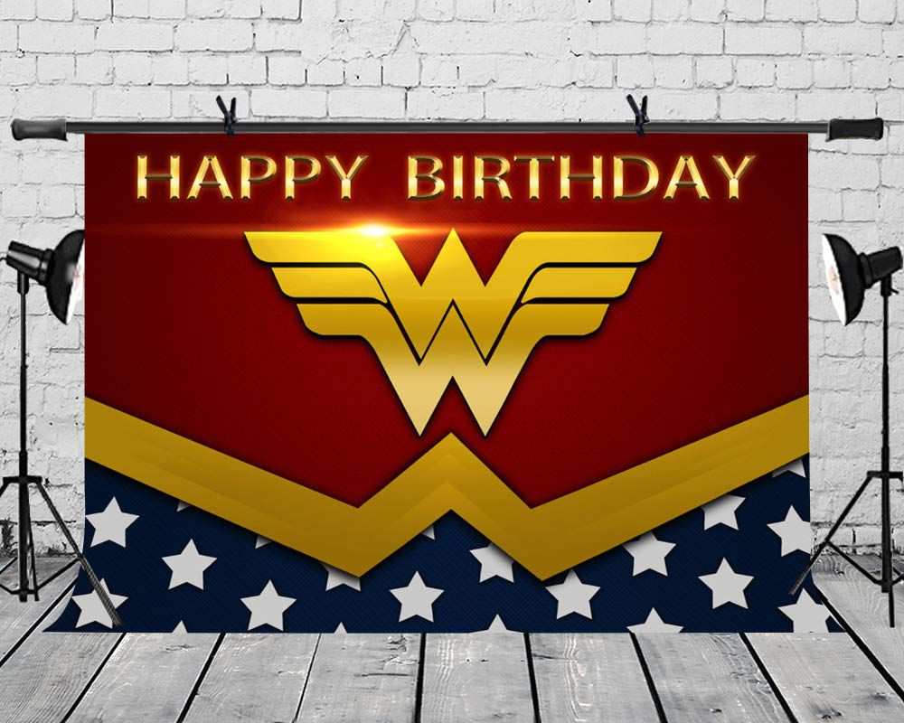 Wonder Woman party backdrop