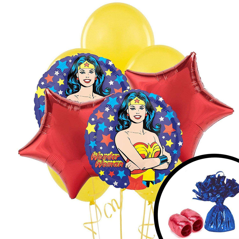 Wonder Woman balloon bouquet