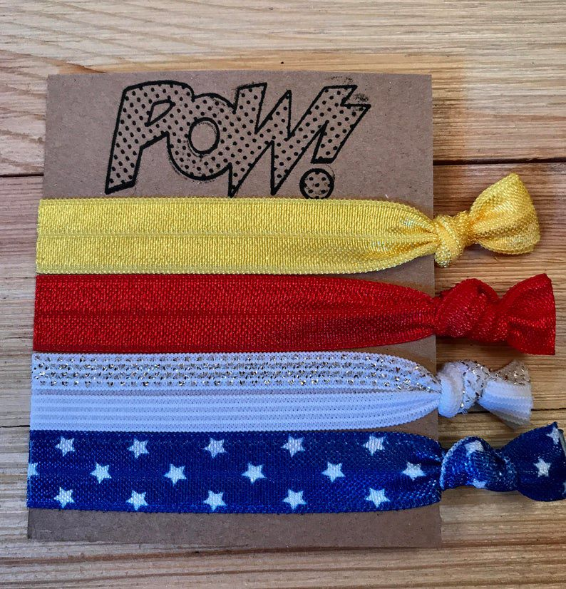 Wonder Woman hair ties