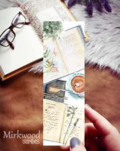 Bookish Flatlay Bookmark