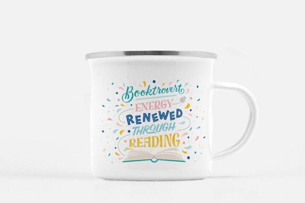 Booktrovert Mug from Etsy Finds for Bookish Introverts | bookriot.com
