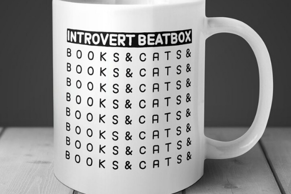 Introvert Beatbox Mug from Etsy Finds for Bookish Introverts | bookriot.com
