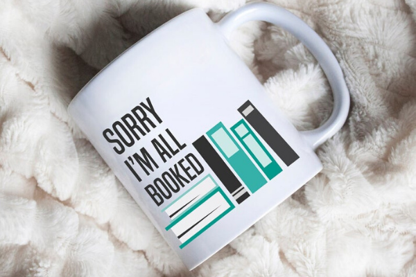 All Booked Mug from Etsy Finds for Bookish Introverts | bookriot.com
