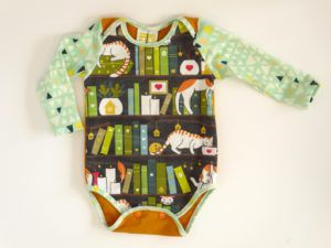 Books and Cats Baby Bodysuit