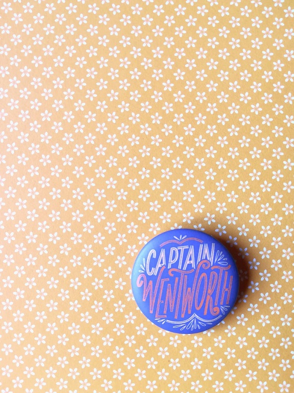 Captain Wentworth pin | https://www.etsy.com/listing/772103985/persuasion-pin-button-dedicated-to