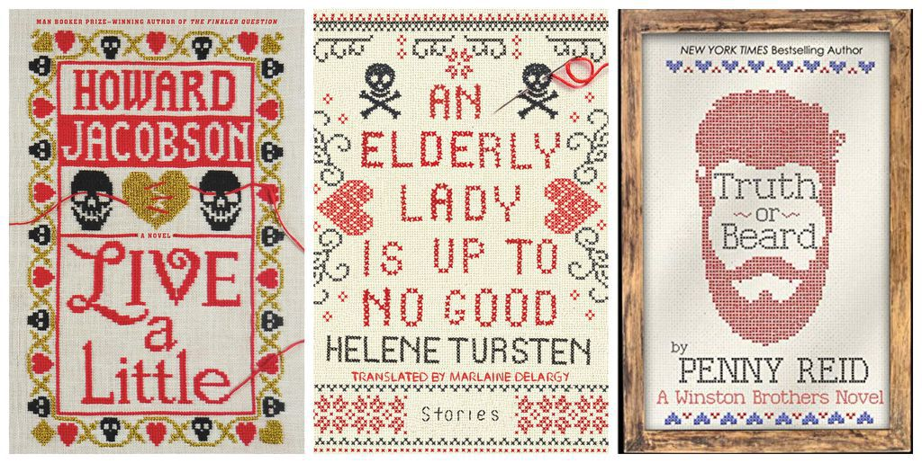 Cross stitched book covers