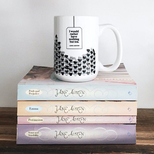 jane austin mug by ObviousState from etsy