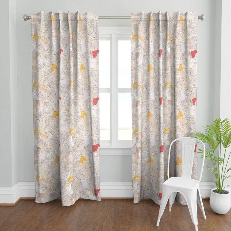 Library card curtain panel