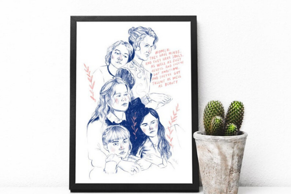 Little Women (2020) Print from All The LITTLE WOMEN Etsy Finds | bookriot.com