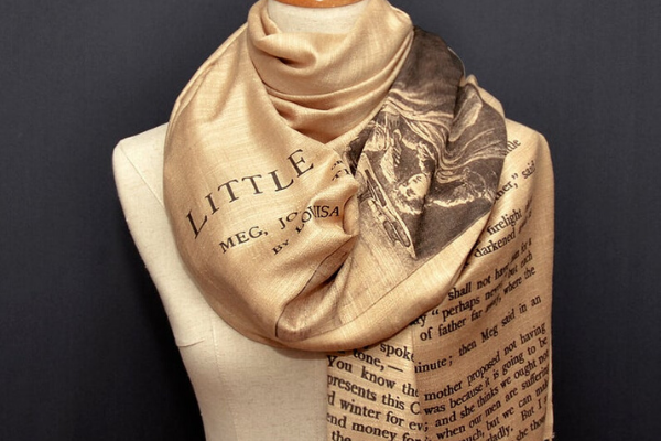 Little Women Scarf from All The LITTLE WOMEN Etsy Finds | bookriot.com