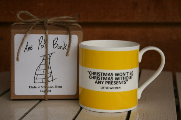 Christmas Mug from All The LITTLE WOMEN Etsy Finds | bookriot.com
