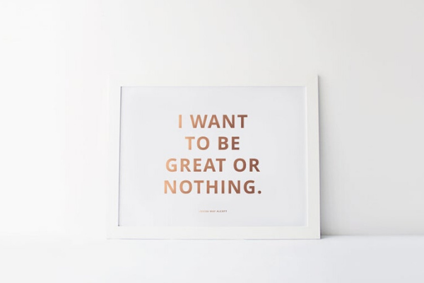 I Want To Be Great Print from All The LITTLE WOMEN Etsy Finds | bookriot.com