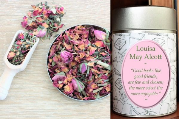 Louisa May Alcott tea from All The LITTLE WOMEN Etsy Finds   bookriot.com