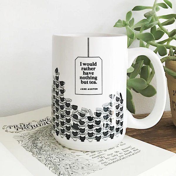 Mansfield Park mug | https://obviousstate.com/collections/mugs/products/austen-tea-mug