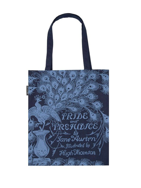 Pride and Prejudice tote bag | https://outofprint.com/collections/jane-austen/products/pride-and-prejudice-tote-bag