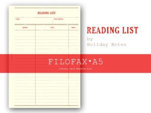 Library Card reading list