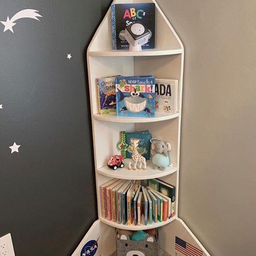 Spaceship Book Shelf by ThatWoodBeFun from Etsy