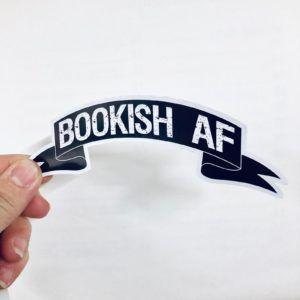 Bookish AF sticker