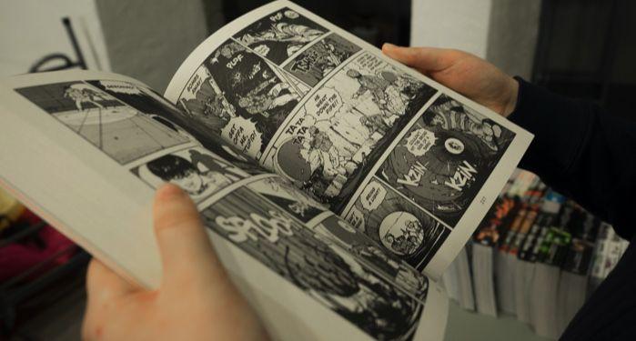 Reading manga image