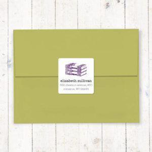 Bookish return address labels