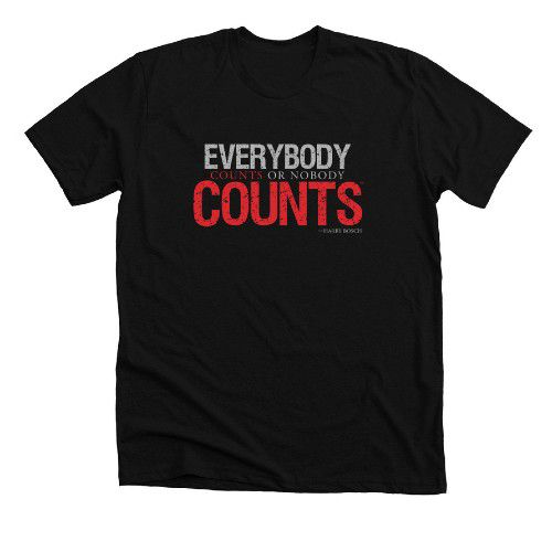 Everybody Counts or Nobody Counts by #SaveIndieBookstores T-shirt from Bonfire