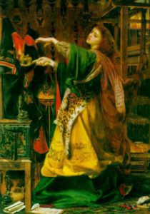 Morgan le Fay by Frederick Sandys (1864), https://commons.wikimedia.org/wiki/File:Morganlfay.jpg