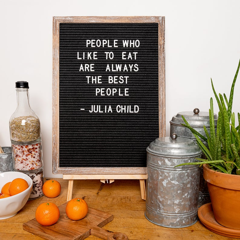 Felt Letter Board Book Quote