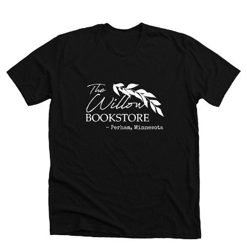 The Willow Bookstore from Perham, MN T-shirt Bonfire