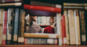 couple in a bookstore